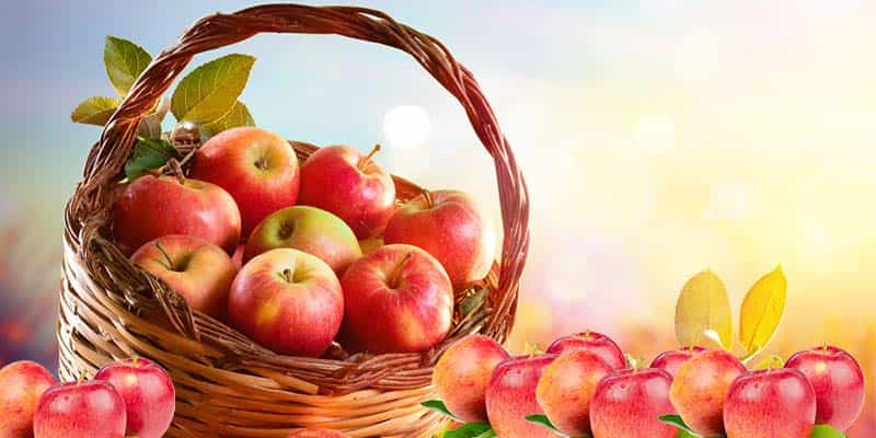 Health benefits of apples against the heat waves of summer