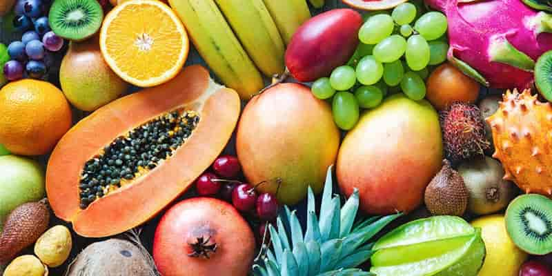 Tropical Fruit use for Radiant Skin