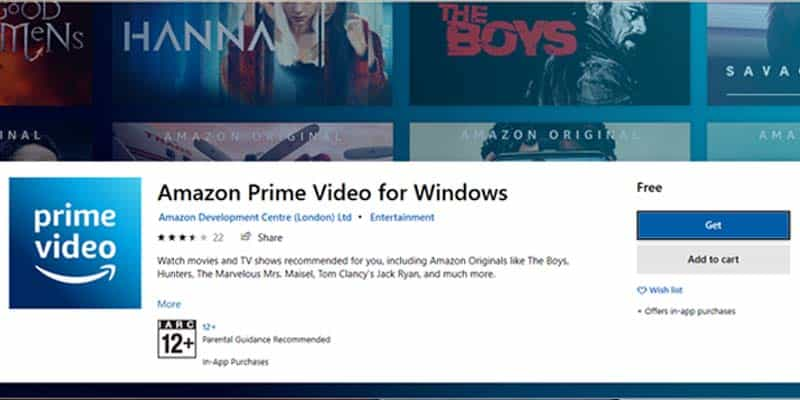 Amazon Prime Video Launched Desktop App for Windows 10