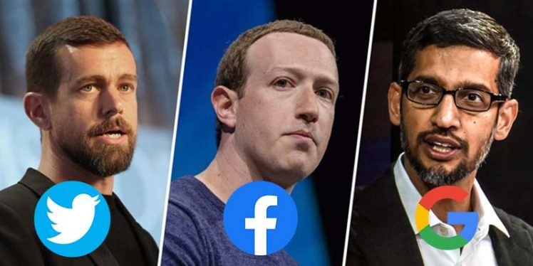 Facebook, Google, Twitter CEOs to face grilling from US panel.