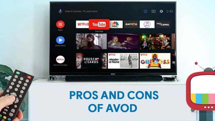 Pros and cons of AVOD (Advertising Based Video On-Demand) Monetization.