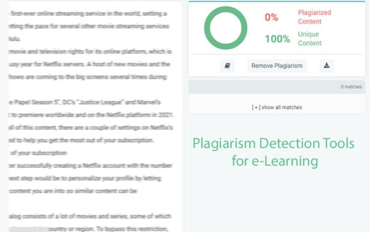 Development of Plagiarism Detection Tools for e-Learning.