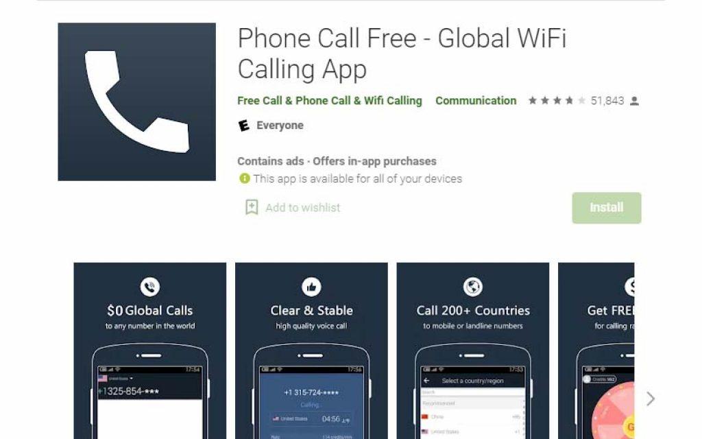 Phone Call Free - Global WiFi calling app