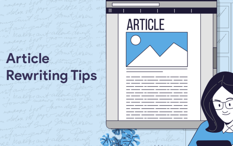 Article Rewriting Tips